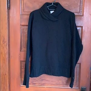 Columbia black sweater wool and cotton blend